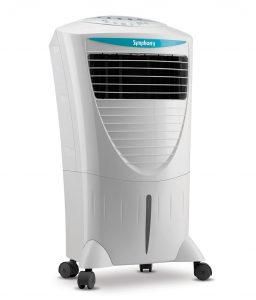 White portable evaporative cooling unit