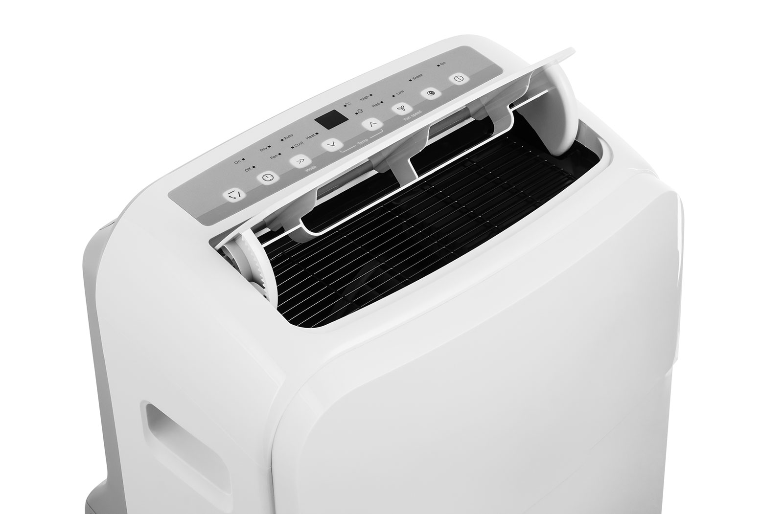 White portable air conditioning unit